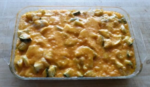 Squash Casserole out of the oven