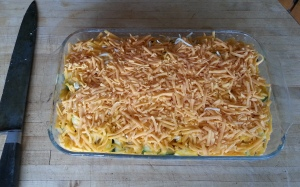 Squash Casserole ready for the oven